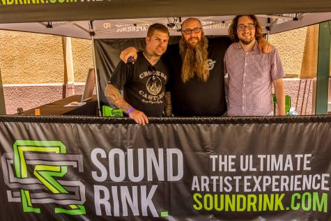 Sound Rink CEO Cody DeLong, far right, with his co-founders, Jason Mageau and Scott Lee.