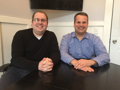 Matt James, left, and Brian Rahill, co-founders of CourseStorm. (Photo/CourseStorm)