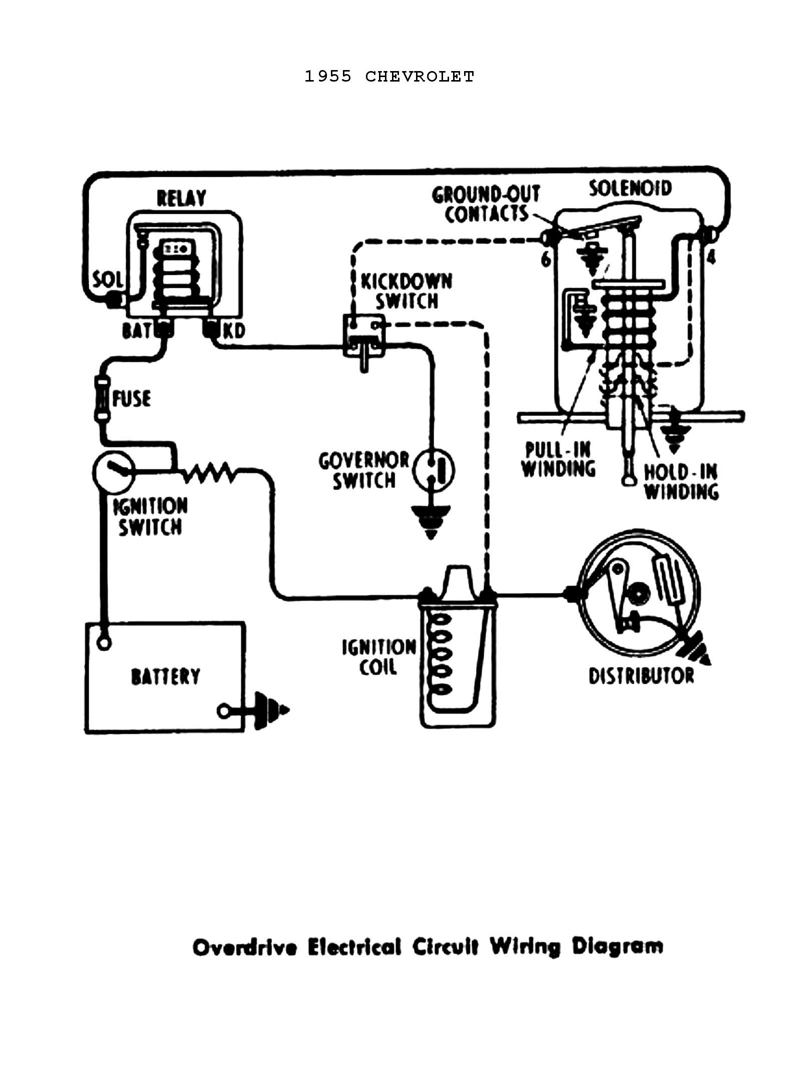 1955 power windows seats · 1955 overdrive circuit chevy wiring diagrams
