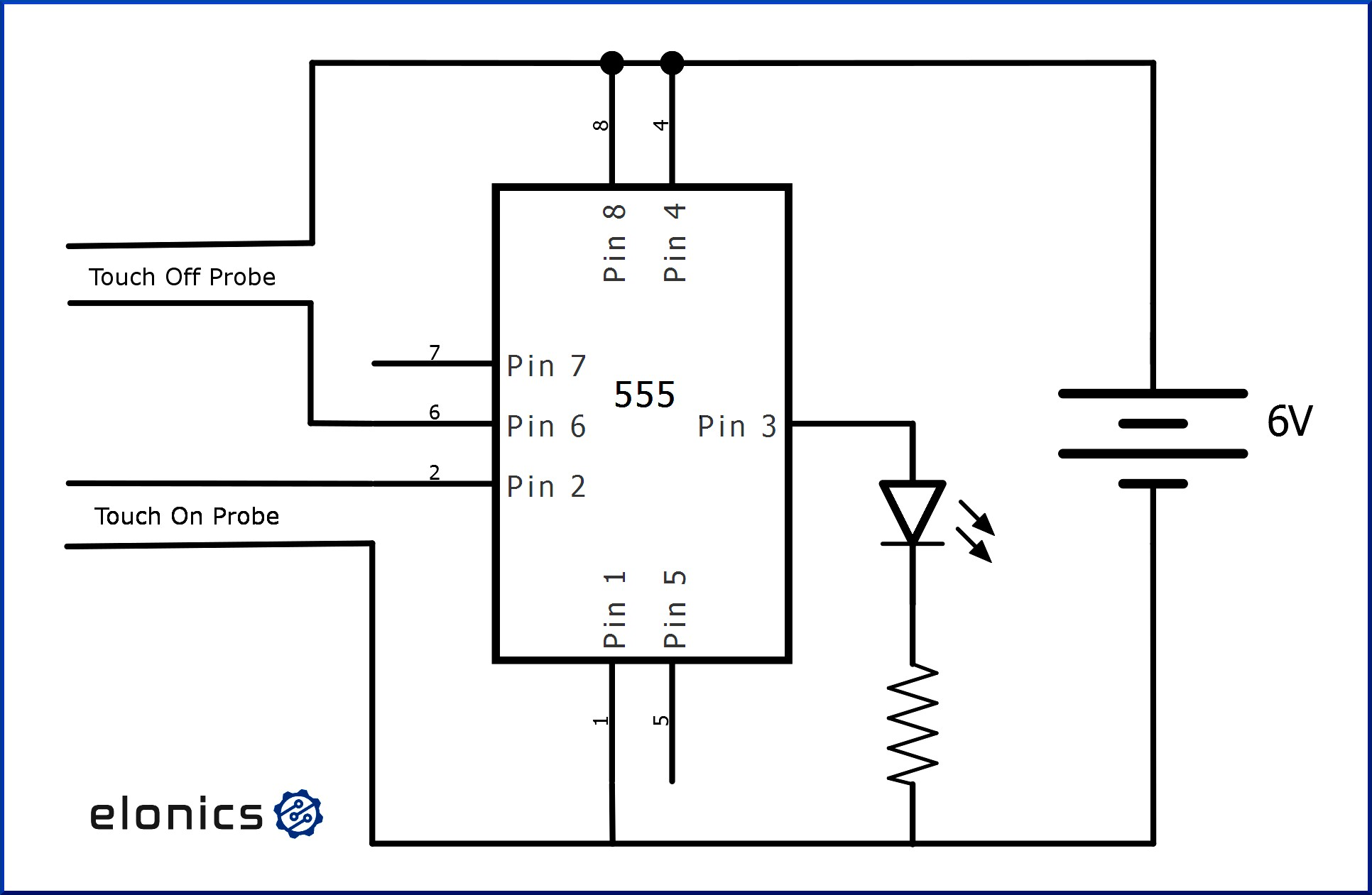 Ic 555 Circuit Diagram