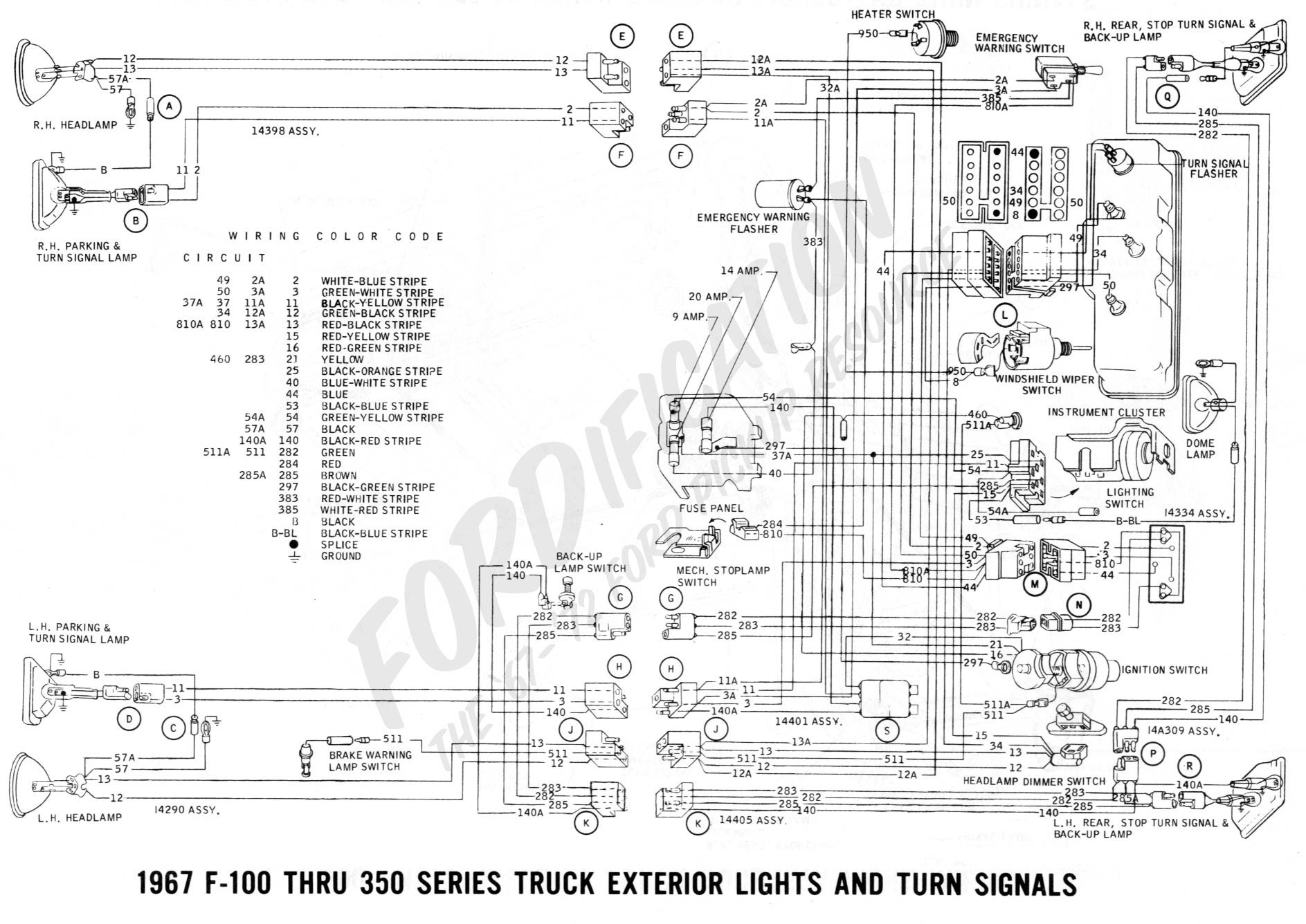 Ford Mustang Wire Diagram Color