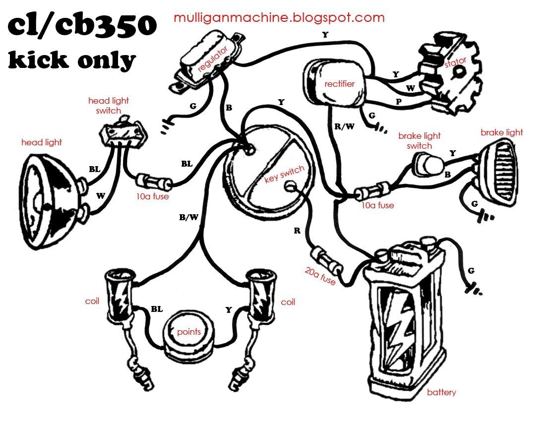 Simple Bobber Wiring Diagram