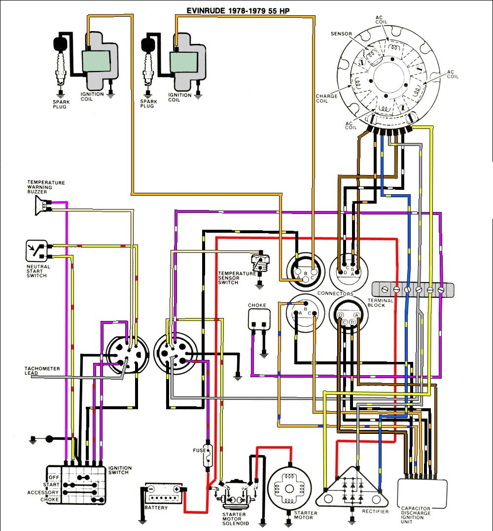 Omc Key Switch Diagram | Machine Repair Manual Omc Ignition Wiring Diagram on