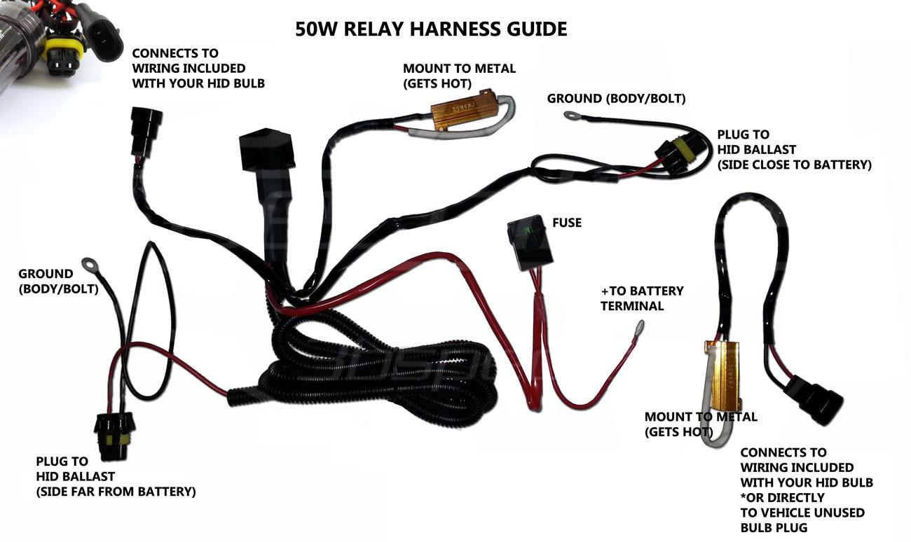 xenon hid wiring diagram