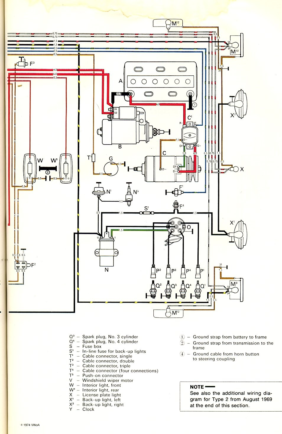Vw Type 2 Wiring Diagram - 9.xeghaqqt.petportal.info •  Vw Wiring Diagram on 1971 vw super beetle starter diagram, 70 vw beetle, 70 vw chassis, 70 vw engine, bay window diagram, 1968 vw beetle speedometer diagram, 1970 vw electrical diagram, 74 super beetle front end diagram, vw type 3 engine diagram, vw beetle fuse box diagram, 2nd gen eclipse alternator diagram,