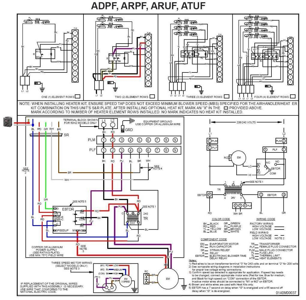 Aruf Wiring Diagram Diagrams Basic Furnace Schematic Goodman Air Handler Model Simple Compressor
