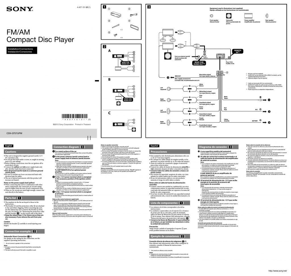 Sony Car Radio Wiring Diagram