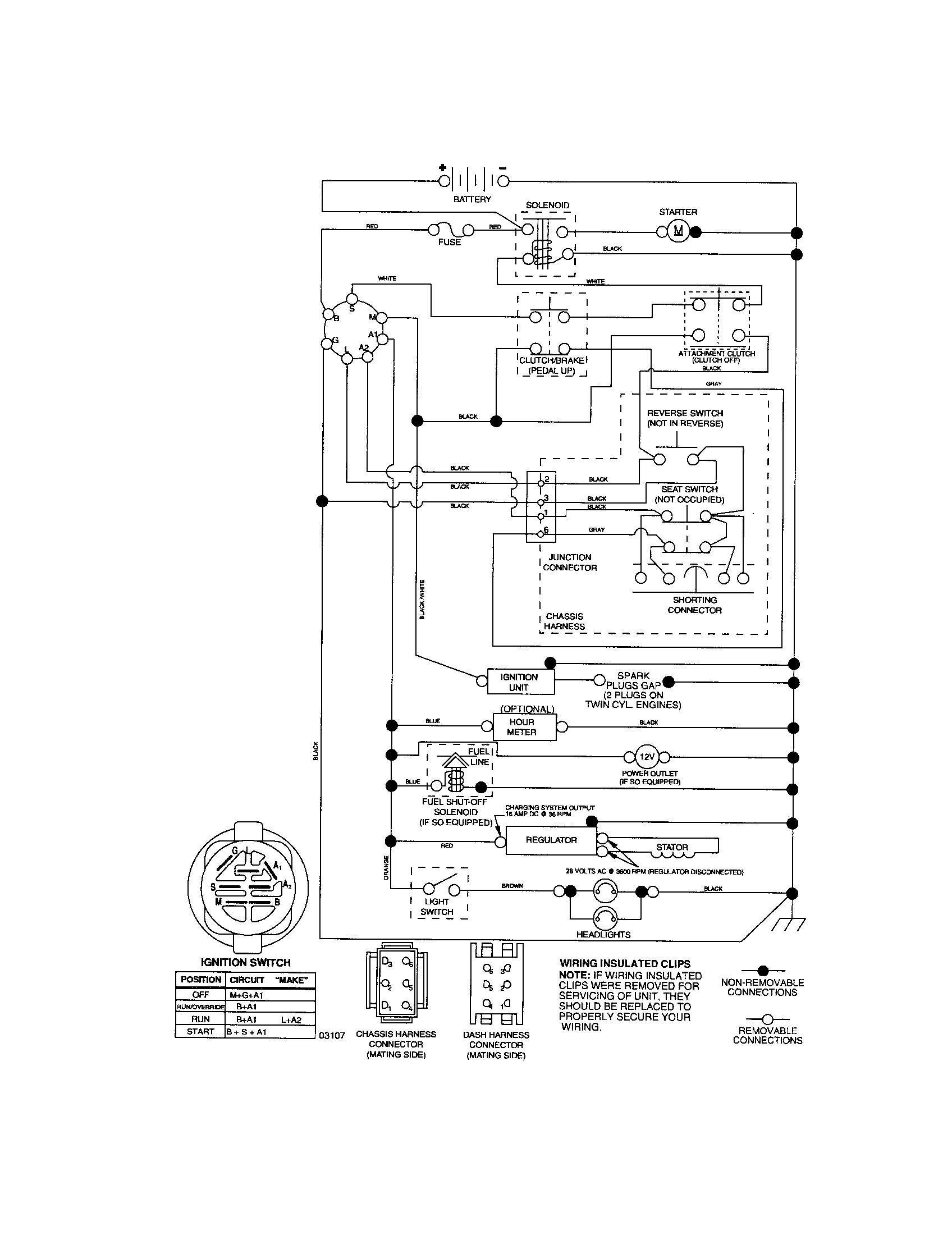 Wheel Horse Garden Tractor Wire Diagram