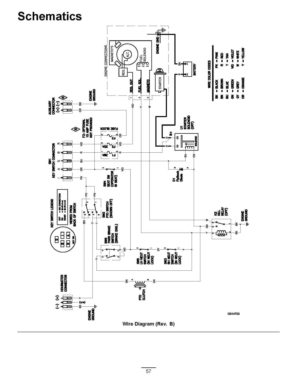 wiring diagram riding mower