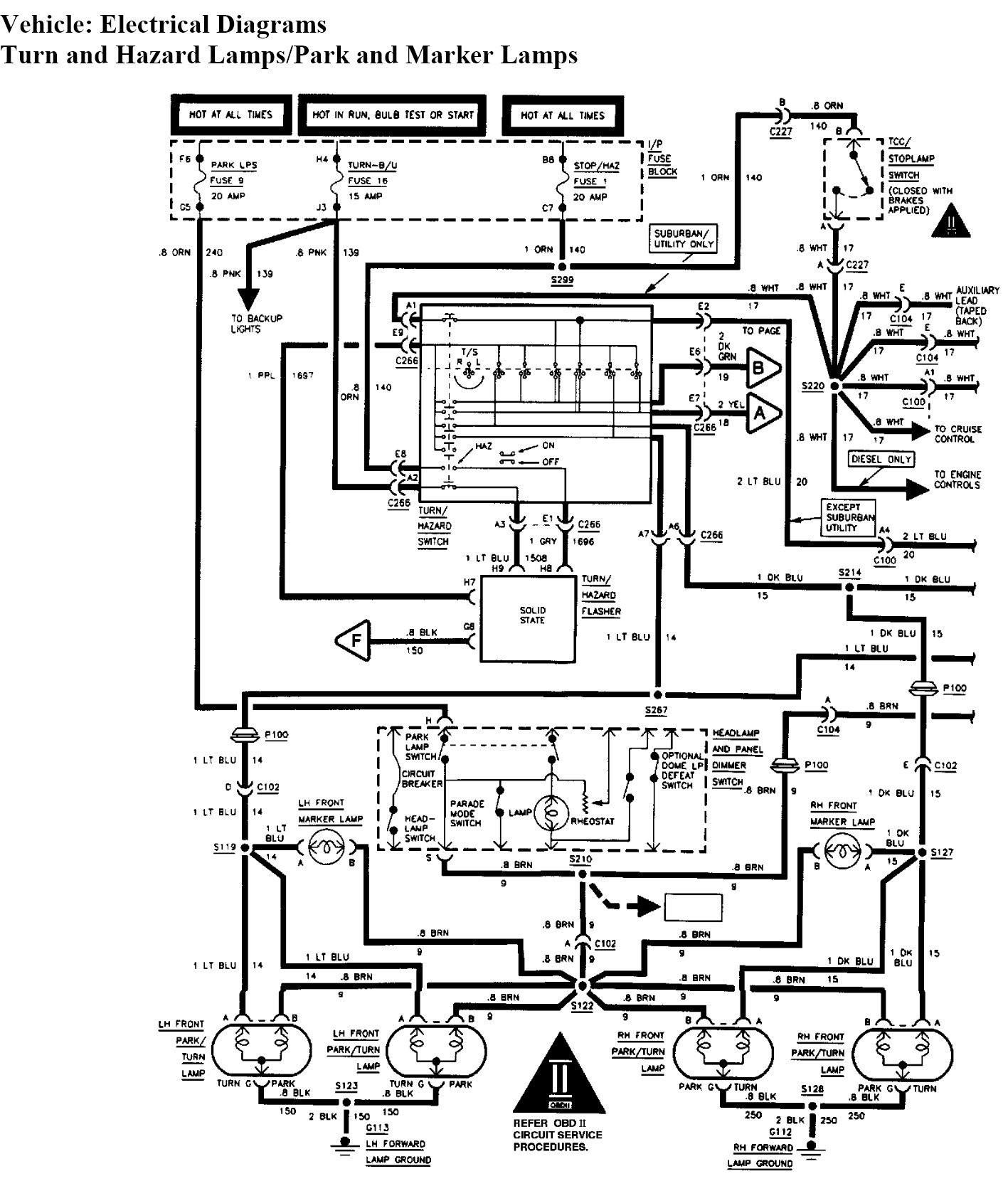 Tahoe Wiring Schematic Chevrolet Tahoe Wiring