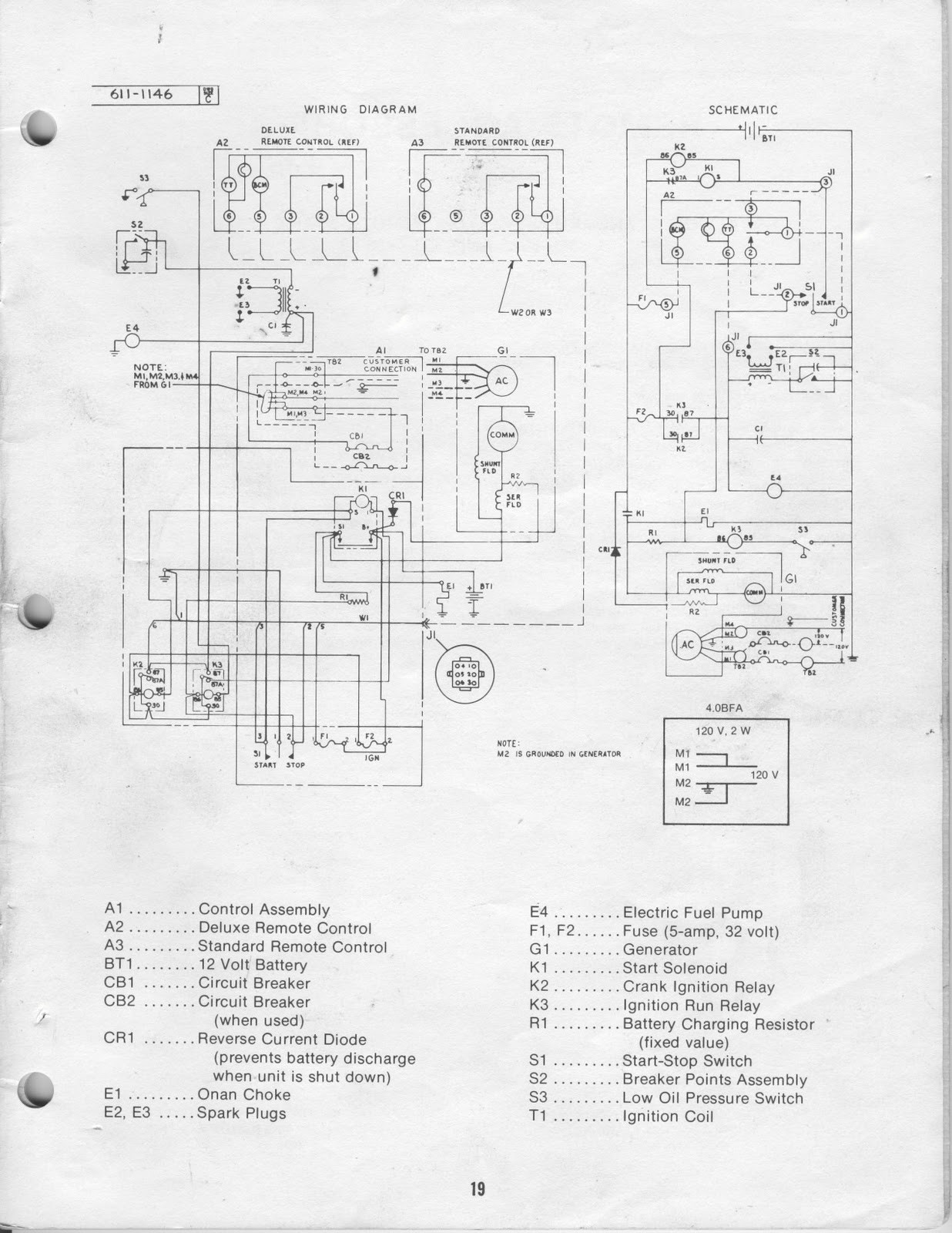 Onan Wiring Schematic - All Diagram Schematics on