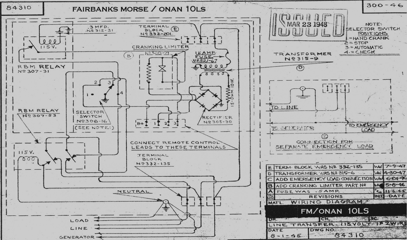 Wiring Diagram Genset