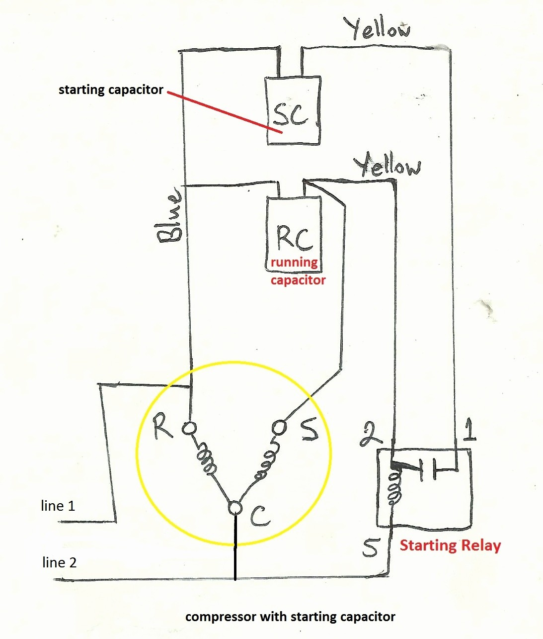 3 Wire Compressor Diagram