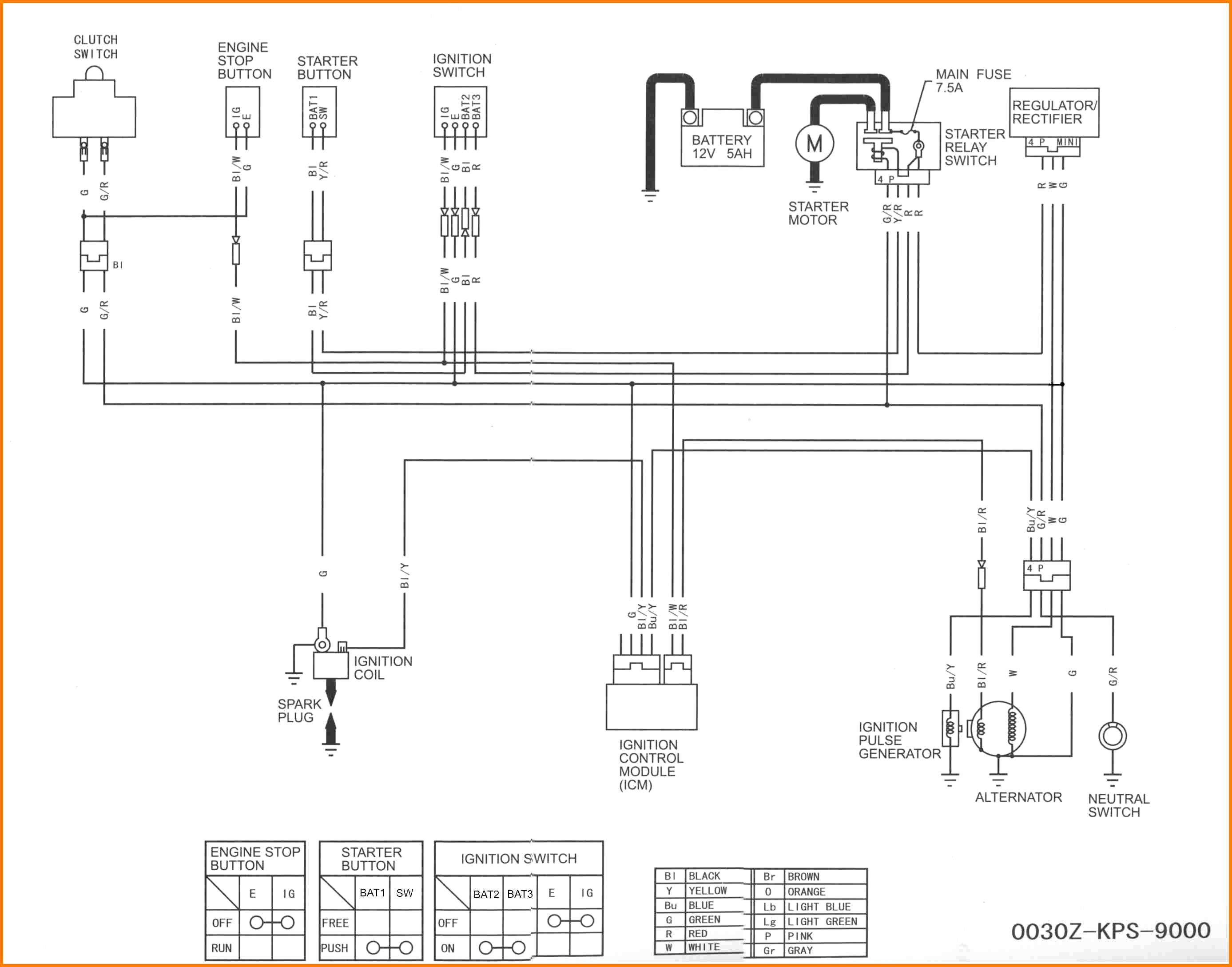 Pit Bike Wiring Diagram 125cc
