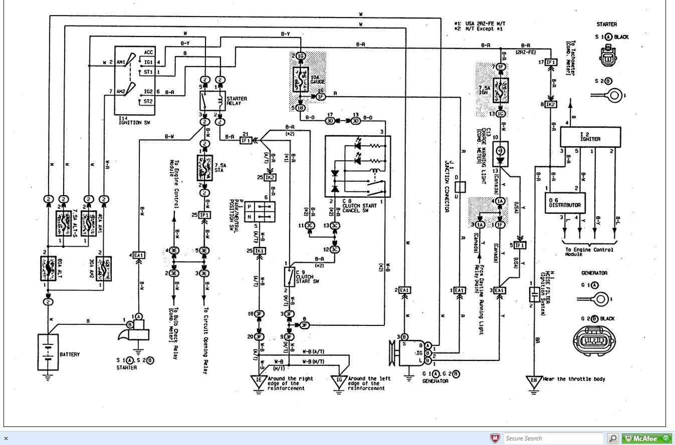 Toyota Tacoma Wiring Diagram