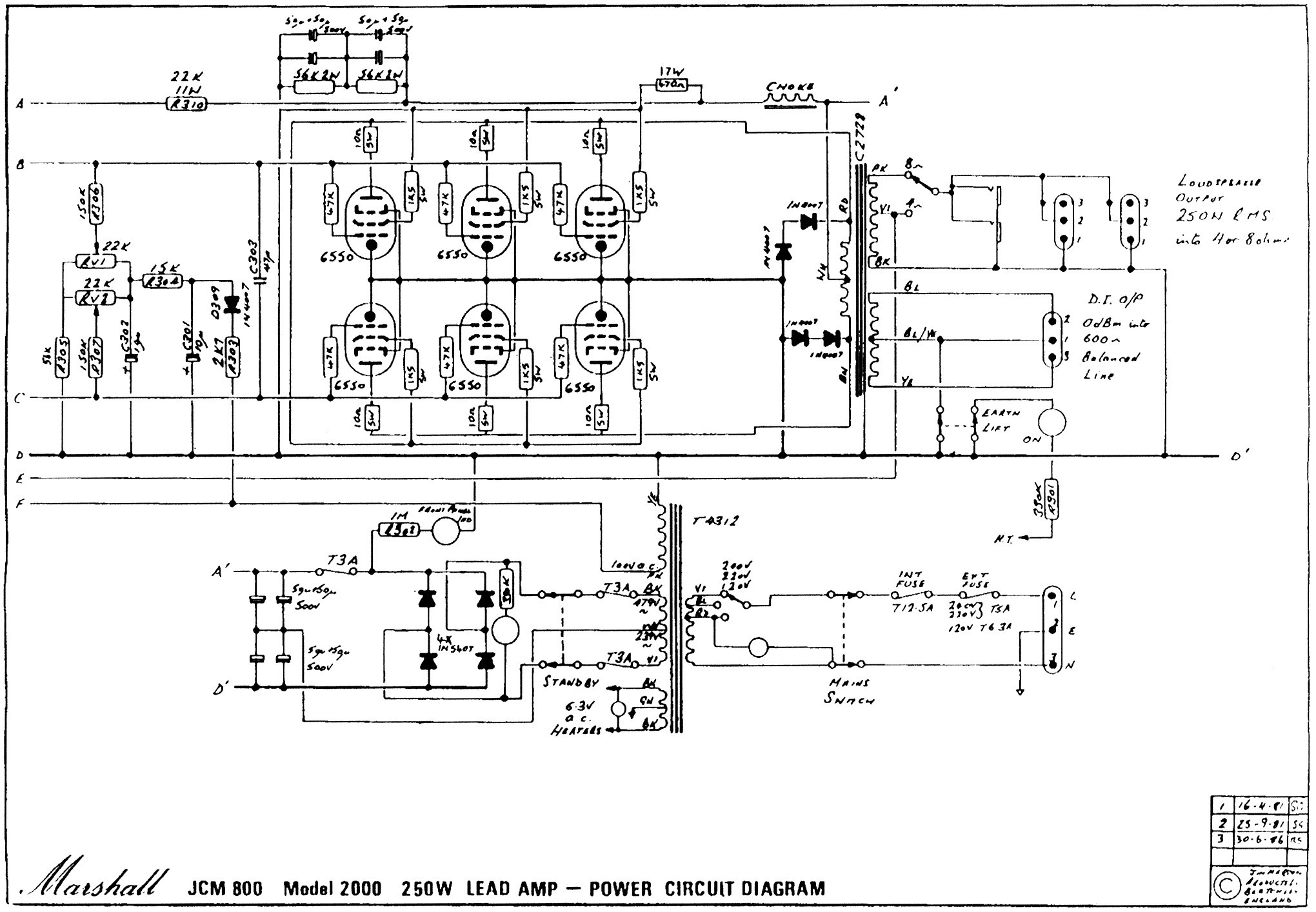 2 Button Footswitch Schematic