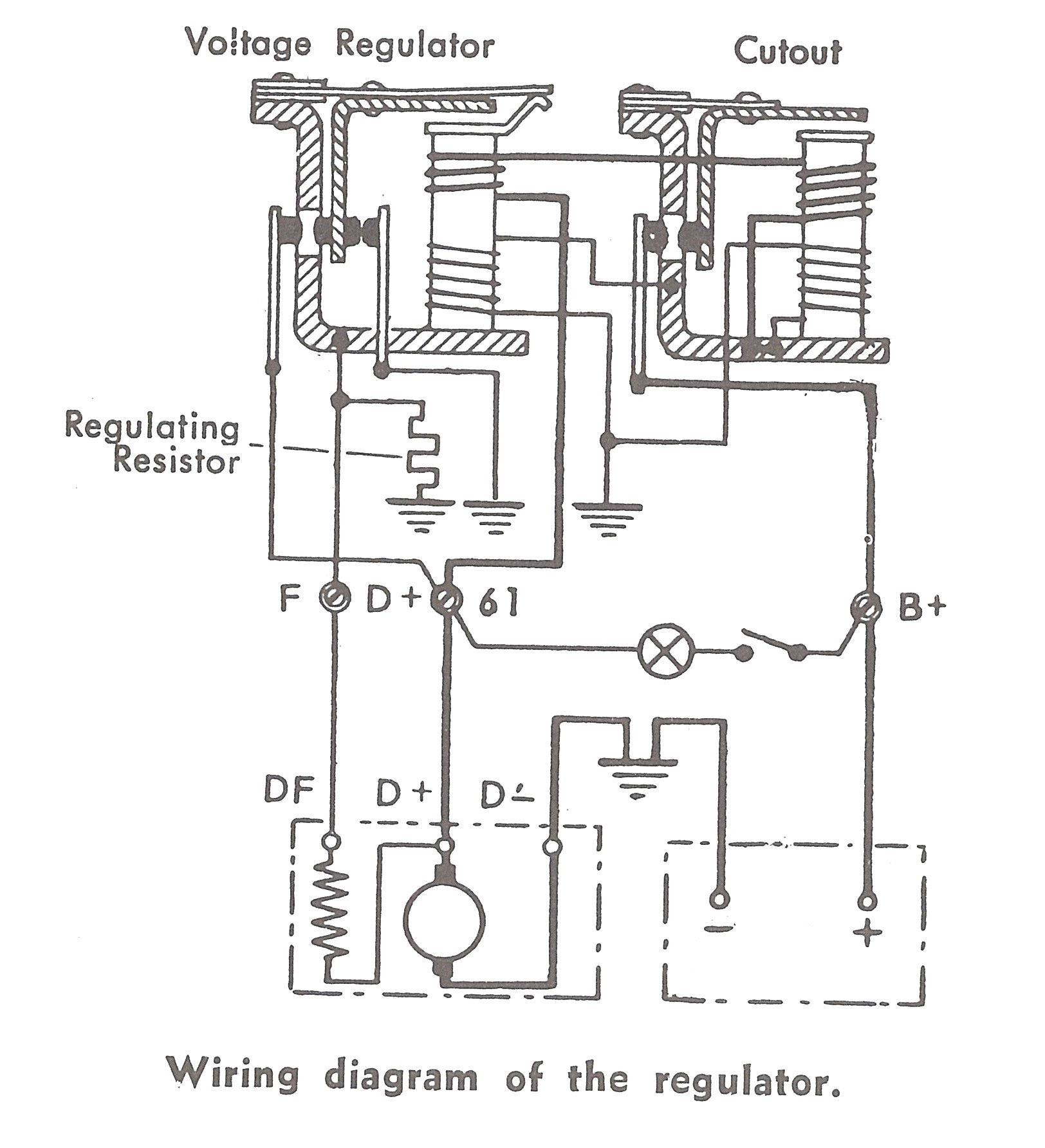 6 Volt Alternator Wiring Diagram - Wiring Diagrams  Wire Alternator Wiring Diagram And Resistor on