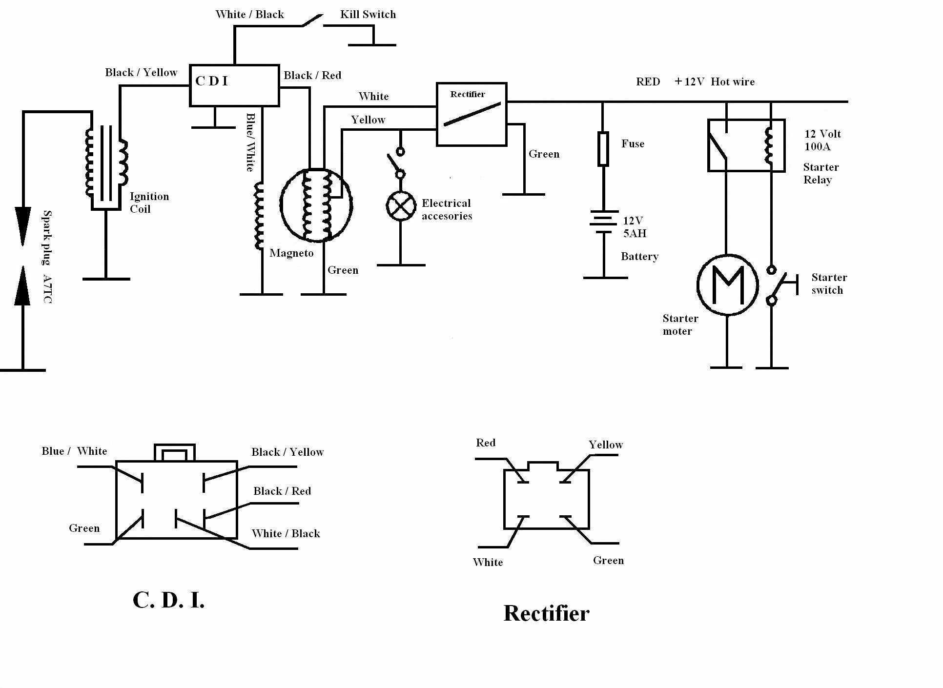 Wiring Diagram 125cc Engine Diagram 125cc Engine Wiring