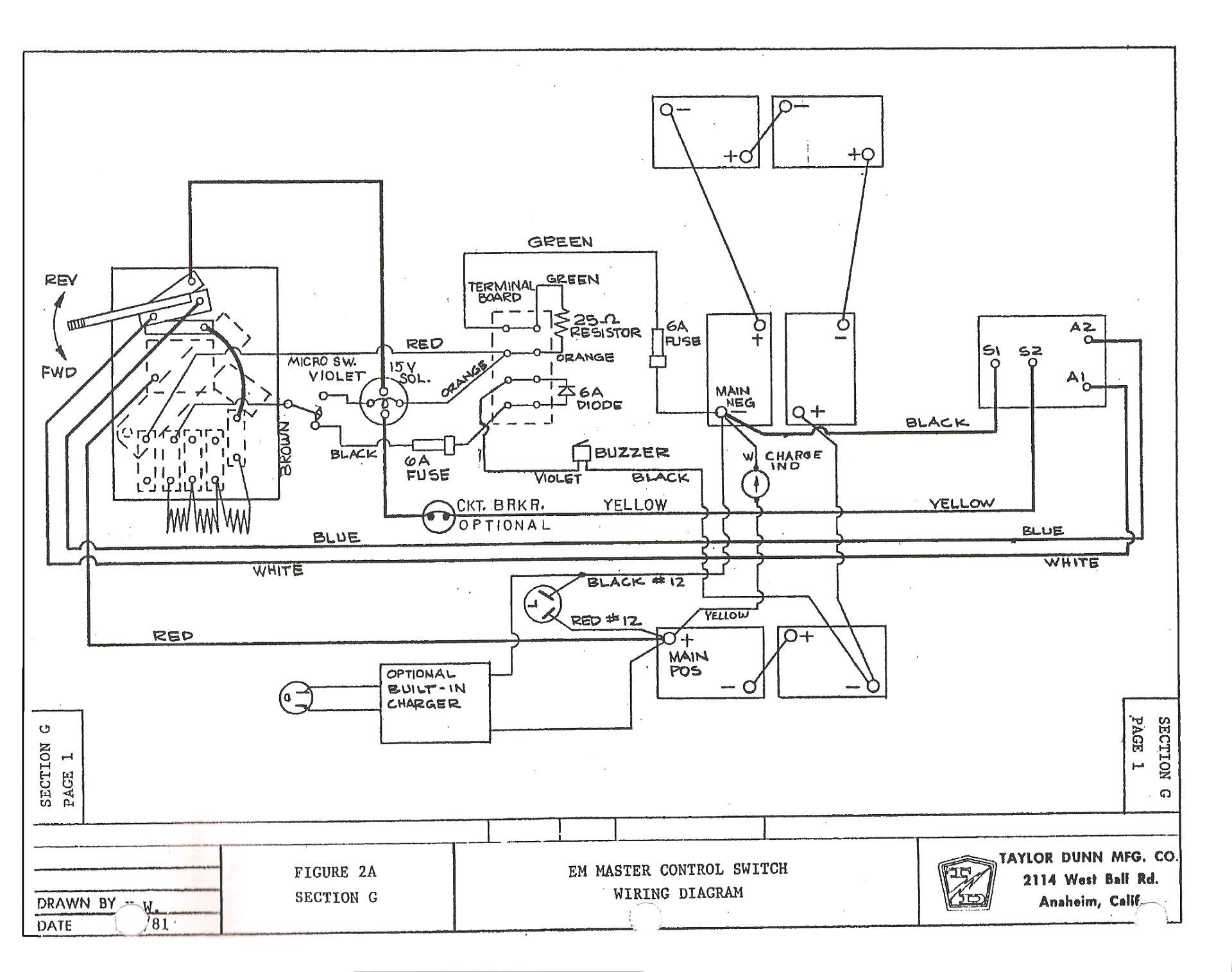Yamaha Electric Golf Cart Wiring Diagram