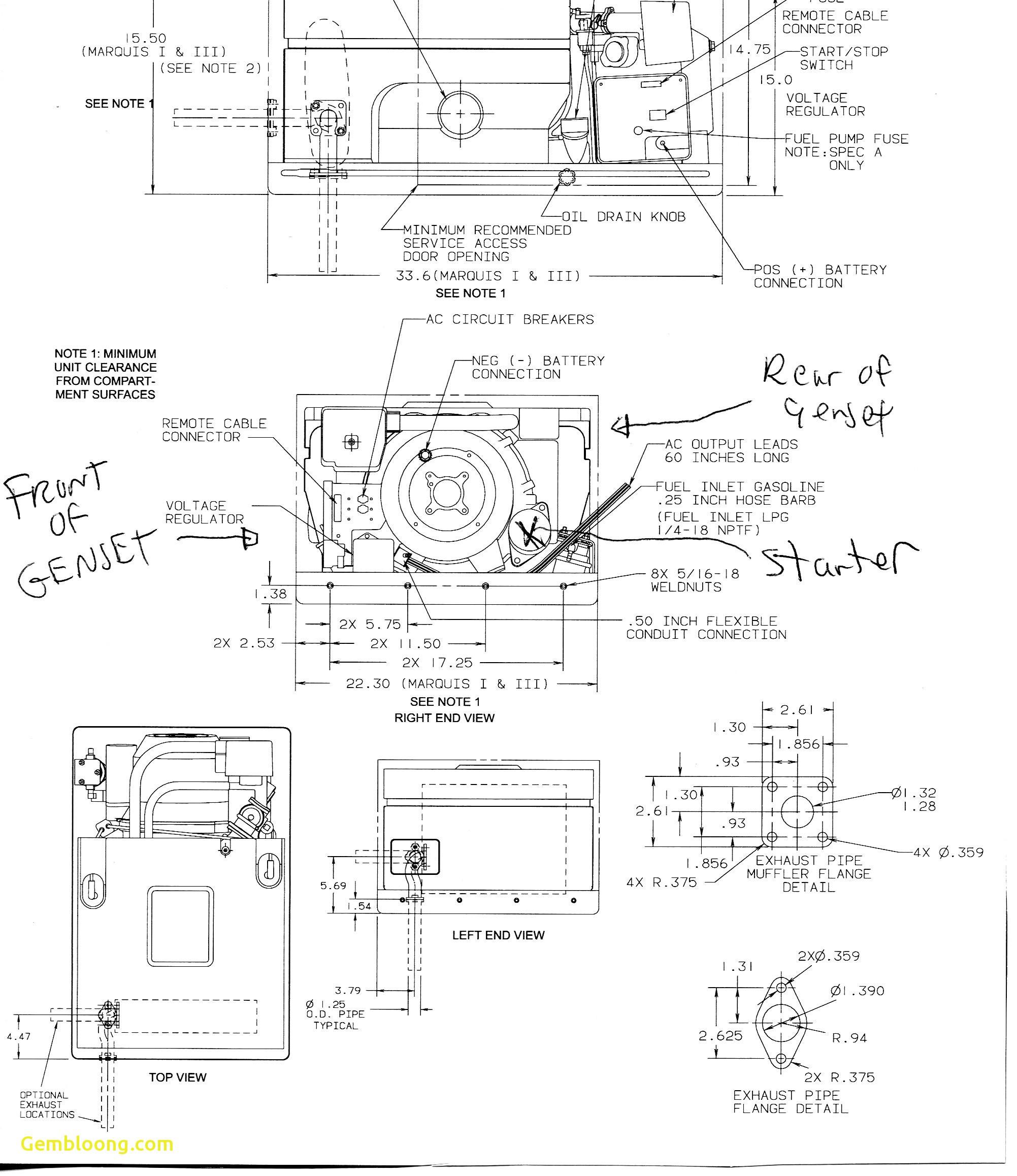 Onan Emarald Plus Generator Parts Diagrams Elegant