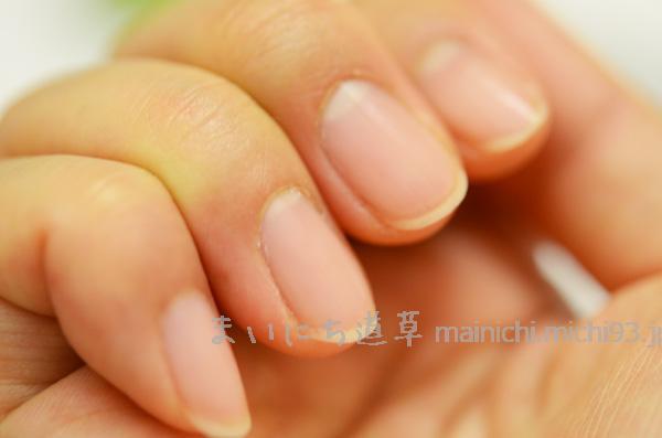 爪に塗ると、しっとり健康的に!