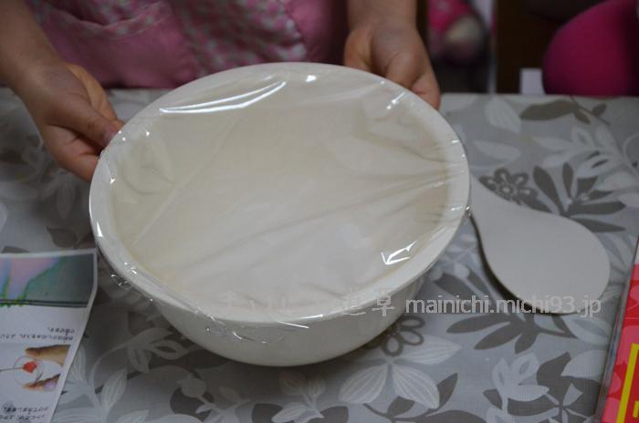 白玉粉と砂糖を混ぜて、レンジでチン!