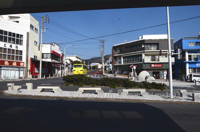 大島 元町港 ロータリー