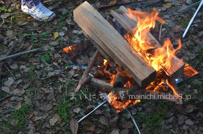 まずはガンガン薪を燃やす