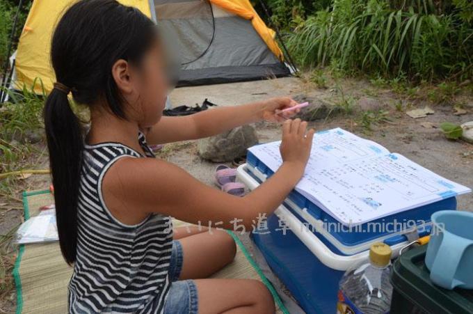 お姉ちゃんは、夏休みの宿題
