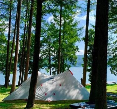 湖の絶景が楽しめるライジングフィールド白馬のキャンプレビュー!設備や施設をブログで紹介!