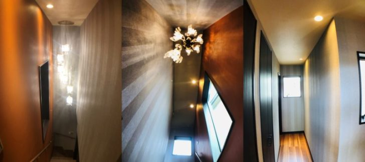 【入居前WEB内覧会】外壁沿いの明るい階段・廊下