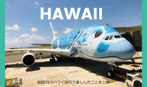 5泊7日のハワイ旅行で楽しんだことまとめ