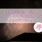 【注文住宅日記10/21】バルコニーから花火見えました!けど・・・