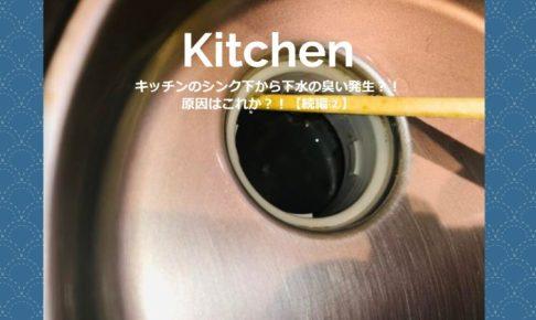 キッチンのシンク下から下水の臭い発生?!原因はこれか?!【続編②】