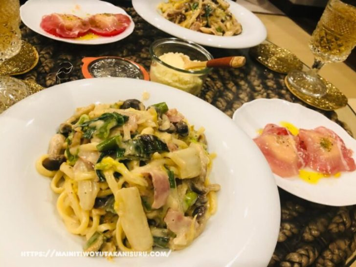 【注文住宅日記2021/3/1】先週の朝食・お弁当・夕食の献立(麺類パスタ)