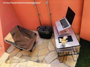 【入居後1年11ヵ月WEB内覧会】突如としてお庭でソロキャン、からのワーケーション