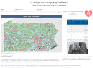 PA College Campus College Town Reopening Dashboard