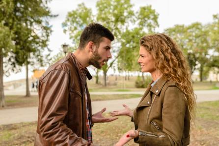 Picture of a couple fighting. Relationship counseling using Gottman Methods teaches you conflict resolution skills.  Available in Chester County, PA. 19301