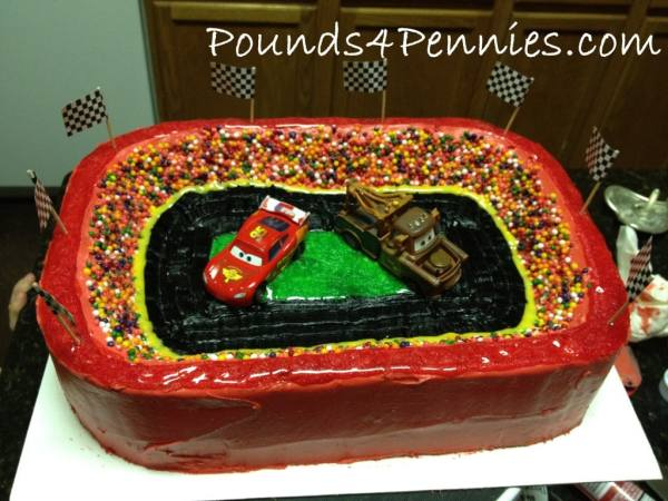 cars birthday party cake