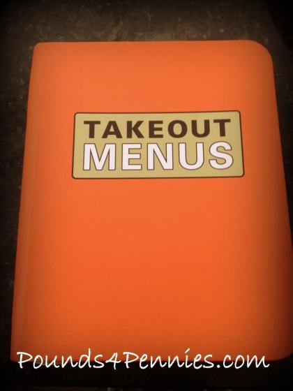 Organize takeout menus