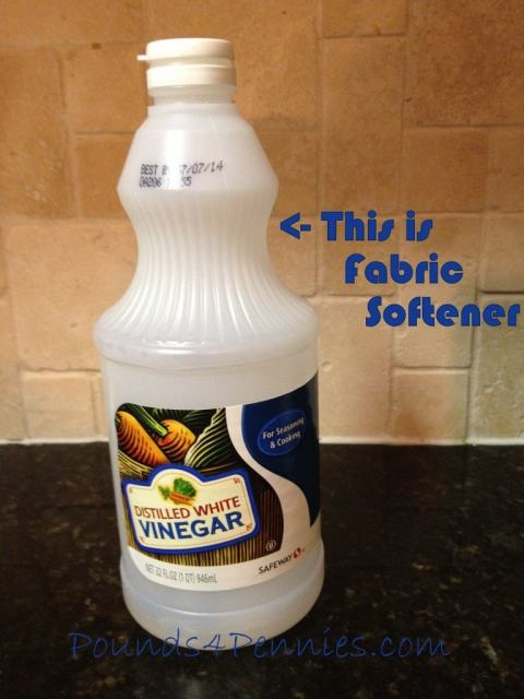 Homemade Fabric Softener vinegar