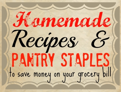 Homemade recipes to save money