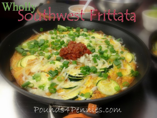 Frittata with guacamole and salsa
