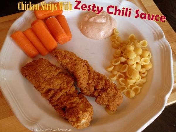 Chicken Strips with Zesty Chili Sauce