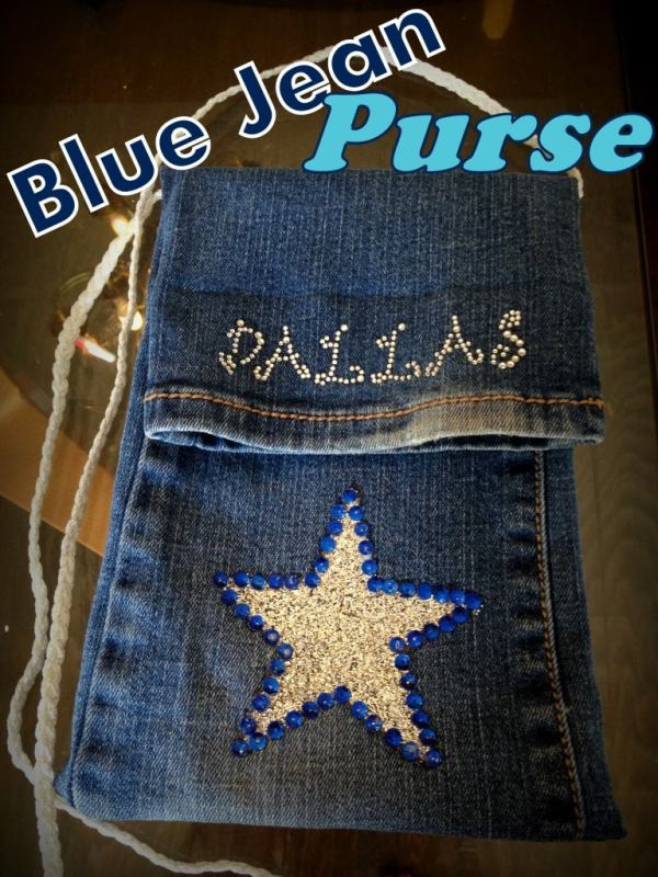 Simple Blue Jean Purse