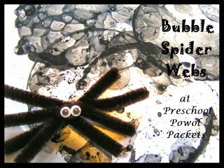 Bubble Spider Webs kids halloween Craft