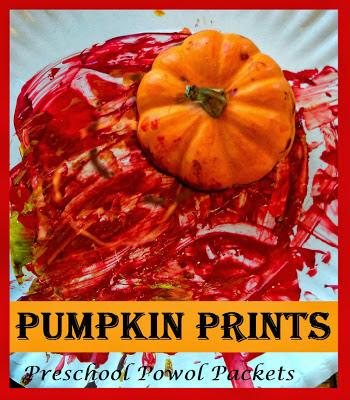 pumpkin print painting