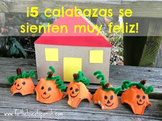 Learn Spanish Halloween craft ideas for kids
