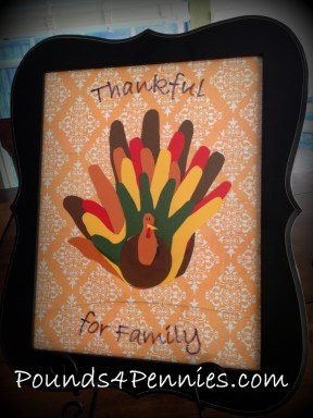 Family Hand print Turkey Craft