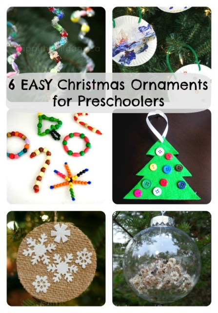 6 easy Christmas ornaments for preschoolers to make